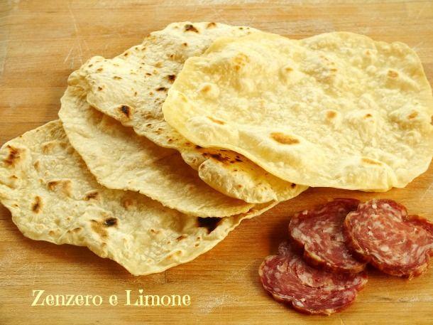 sfoglie di pane senza lievito -