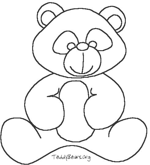 thanksgiving teddy bear coloring pages | 50 best images about Sewing - Teddy Bear Applique on ...