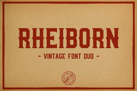 Rheiborn Font by BART.Co Design on @creativemarket
