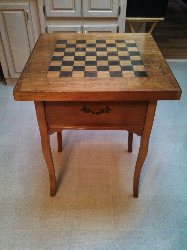 Found A Homemade Chess Board At A Thrift Store And Mounted