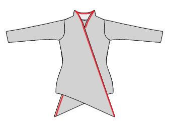 Free Sewing pattern. German Cardigan Line Jack Neck