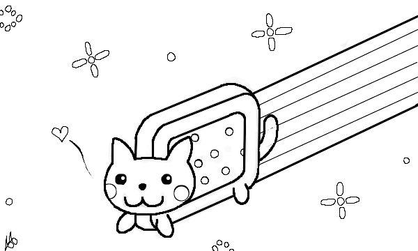 nyan cat coloring pages - pusheen the cat coloring pages coloring pages