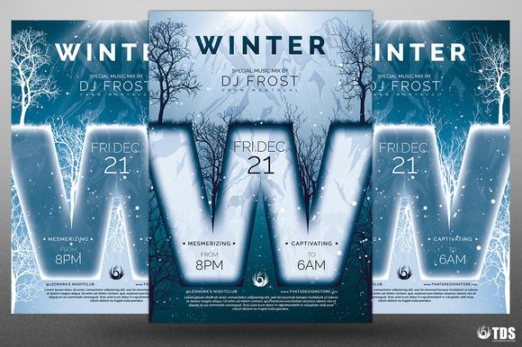 Minimal Winter Flyer Template by Thats Design Store on @creativemarket