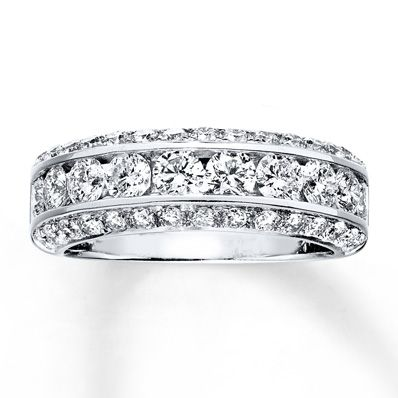 Jared - Diamond Anniversary Band 1 7/8 Carats tw 14K White Gold  I love this because it's not an eternity band but looks like one