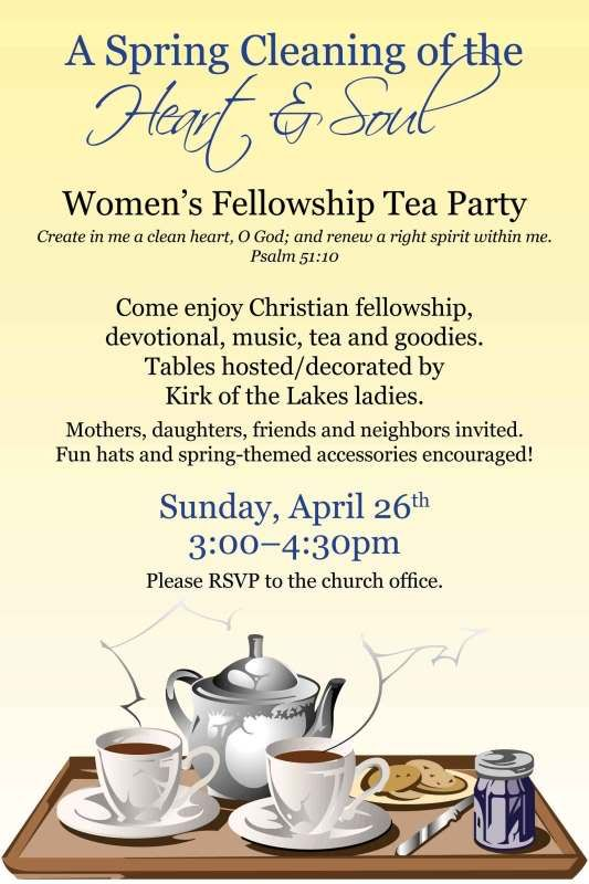 Man seeking women tea party