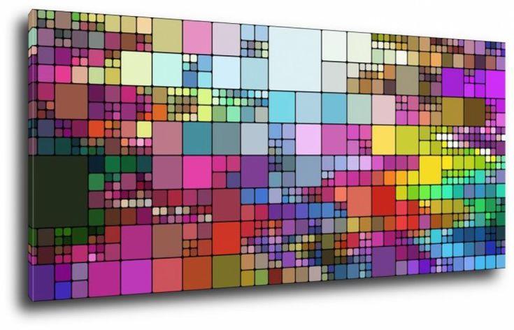 Obraz kolorowe kwadraty