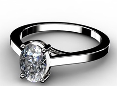 Diamant Verlobungsring Reinheit, 750er Weißgold 18 Karat