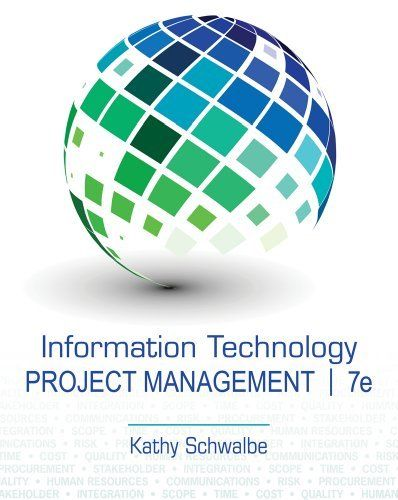 Information Technology Project Management by Kathy Schwalbe. $121.94. Edition - 7. Publisher: Course Technology; 7 edition (January 1, 2013). Publication: January 1, 2013. Save 18%!  MY NEXT CLASS!! #WTAMU