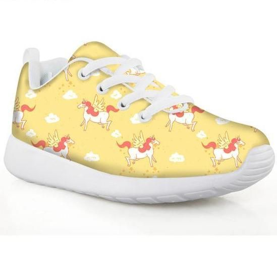 Unicorn Girls Rainbow Sneakers Sport Shoes- Printing Football Shoes Lightweight Running Shoes