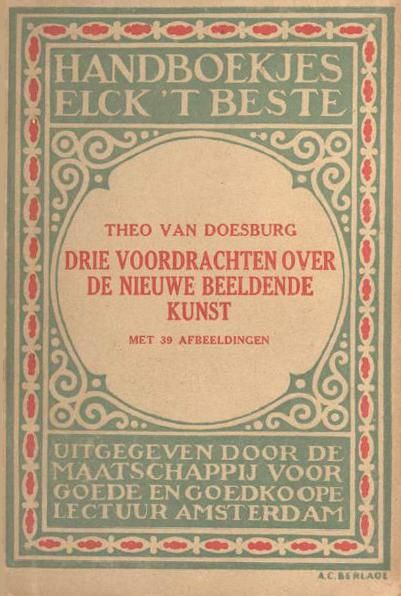 """Cover of """"Three lectures about the new art"""", 1919"""