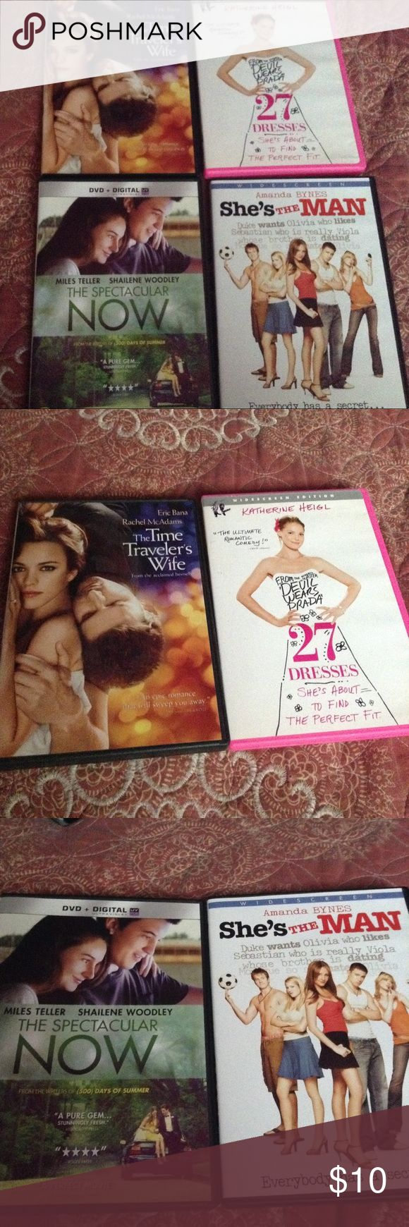 Chick Flick Movie Bundle fun chick flicks for a girls night in, no scratches Other