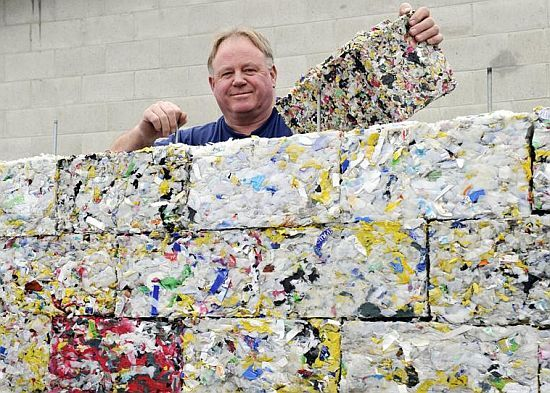Byfusion - plastic bricks using compressed plastic waste. Brilliant!