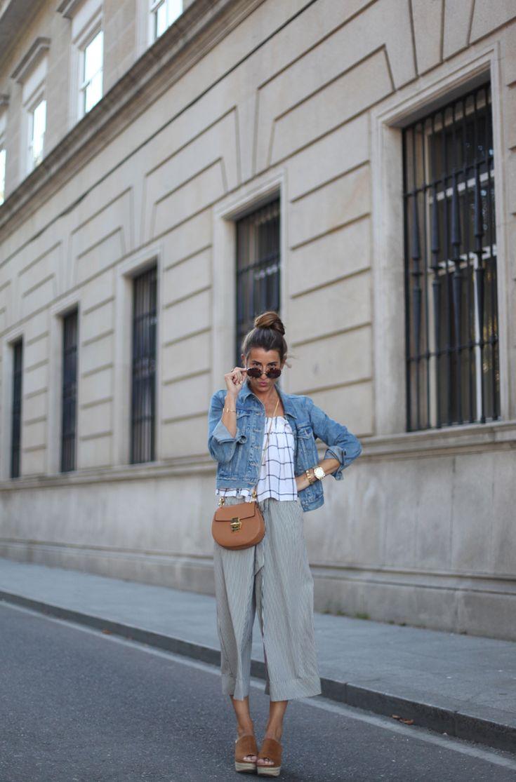 #casual #culottes #lace #denim