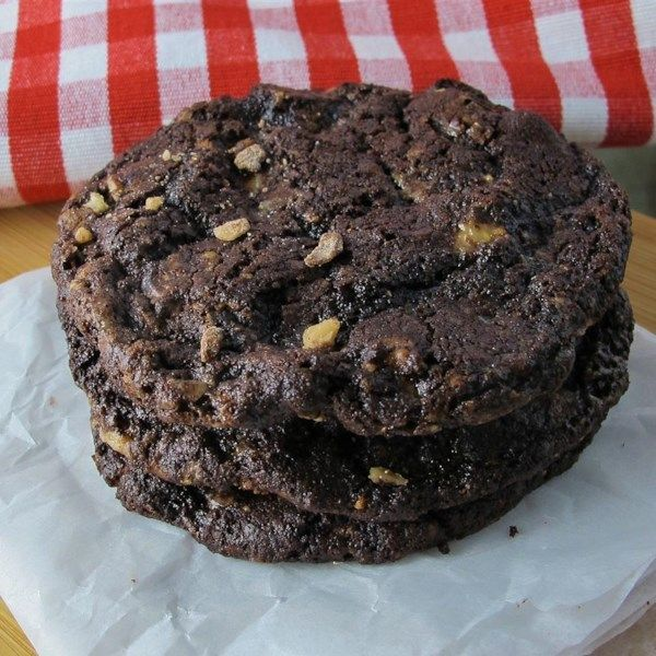 "Chocolate Toffee Cookies II | ""I used white chocolate chips and pecans. They were crisp and delicious."""