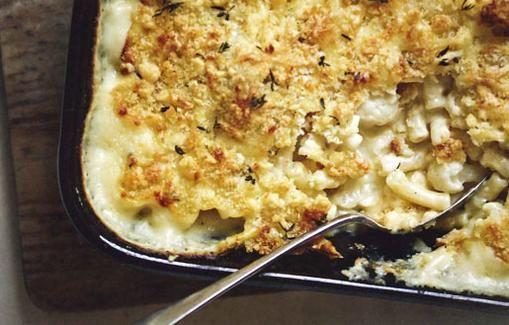 Mac and cheese á la Gordon Ramsay, jossa makaroni on korvattu kukkakaalilla.