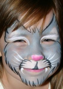 Katzen schminken (Kind) - fertig