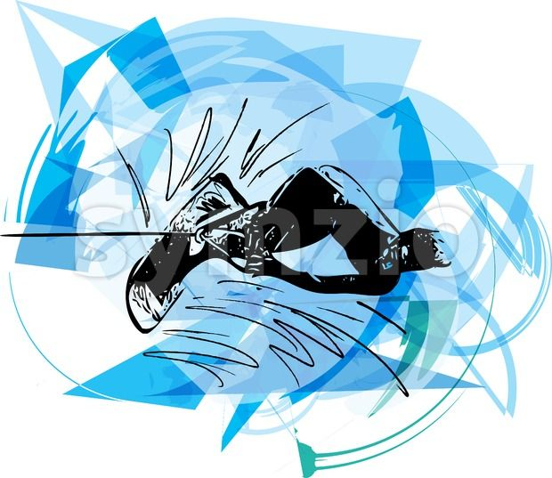Stock vector of abstract illustration of Water skiing from $1.99. Water skiing abstract vector illustration...