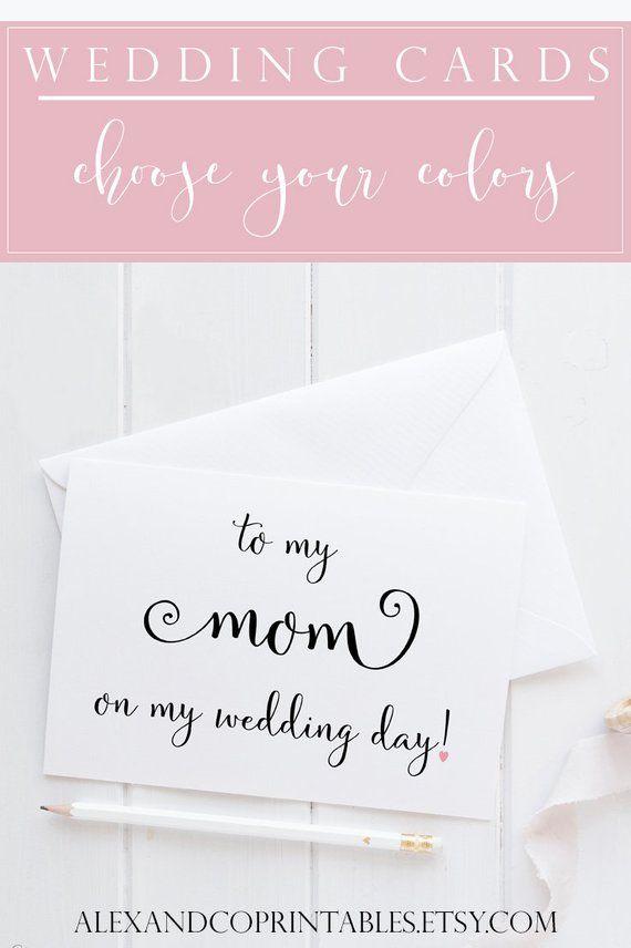 Wedding Card For Mom Mom Card To My Mom Card Mom Wedding Card