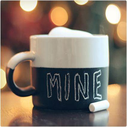 Chalkboard Mug and 64 other homemade gifts