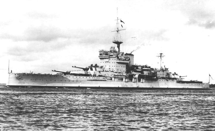 15 in Queen Elizabeth class battleship HMS Warspite pictured just before WW2: a good view of her significant recent modifications, including modernised 'box' bridge and single funnel.  Sisters Valiant and Queen Elizabeth were similarly modernised; Barham (sunk 1941) and Malaya less so.  Across two World Wars, Warspite saw more combat than any other capital ship.