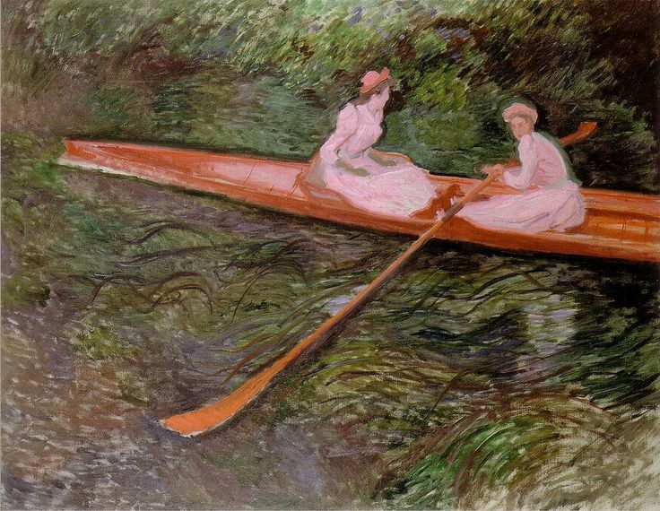 1890 Claude Monet The pink skiff(Pola Art Museum Japan)(135 x 175 cm)