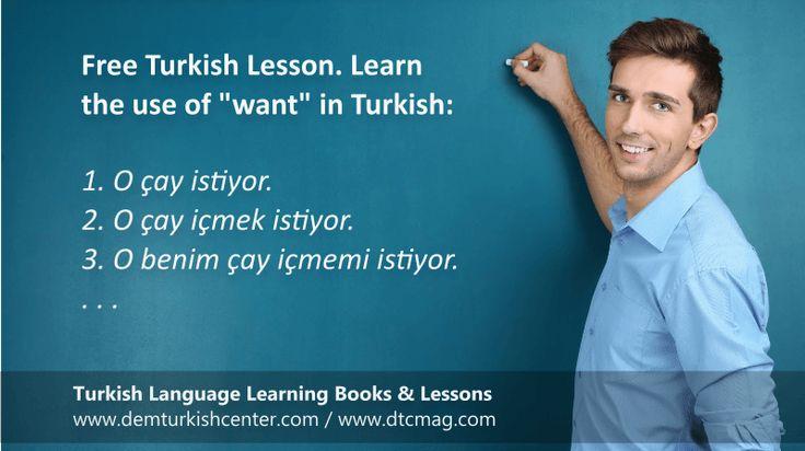 Free #Turkish #Language lessons: Want in #TurkishLanguage