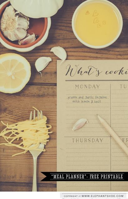 link to whats cookie free printable - plan out your meals for the week