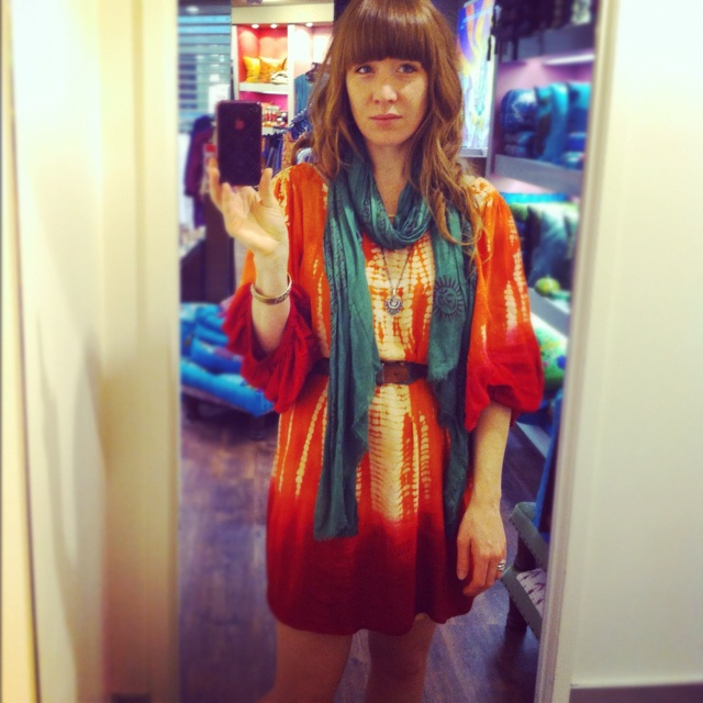 The Meade Dress by Tree of Life Teamed with a ram ram (scarf) also by Tree of Life