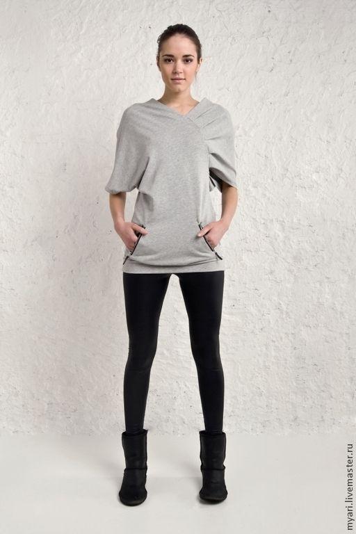 Купить Свитшот-креатив - серый, однотонный, креативный подарок, креативная одежда, необычная одежда