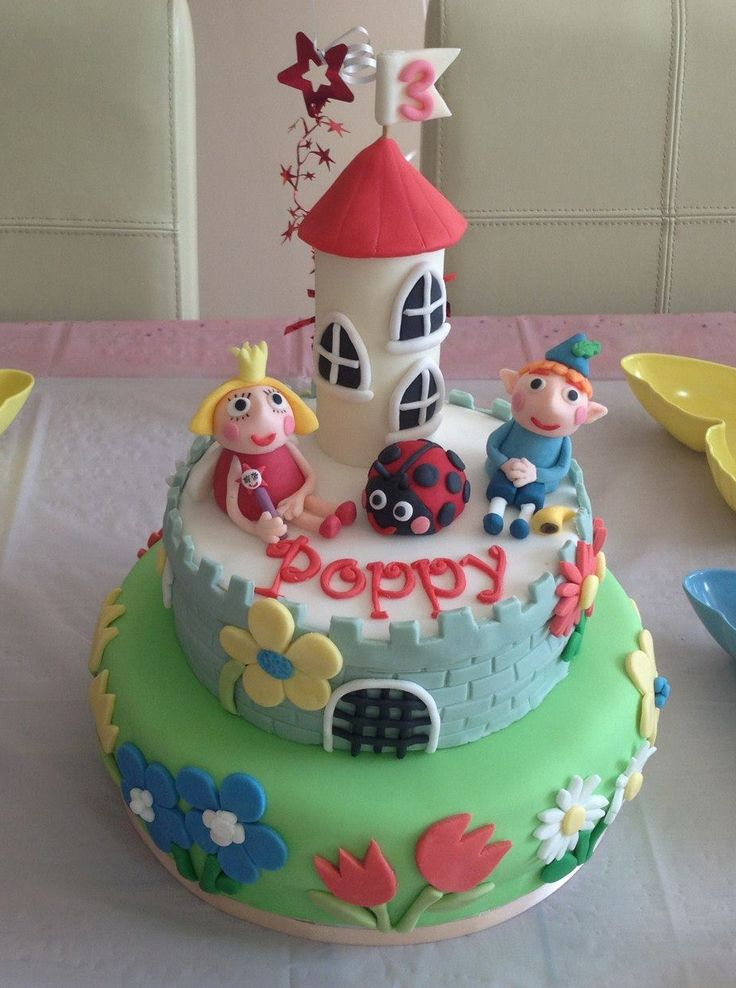 Ben and Holly cake | Ideas | Pinterest | Cakes  Ben and Holly c...