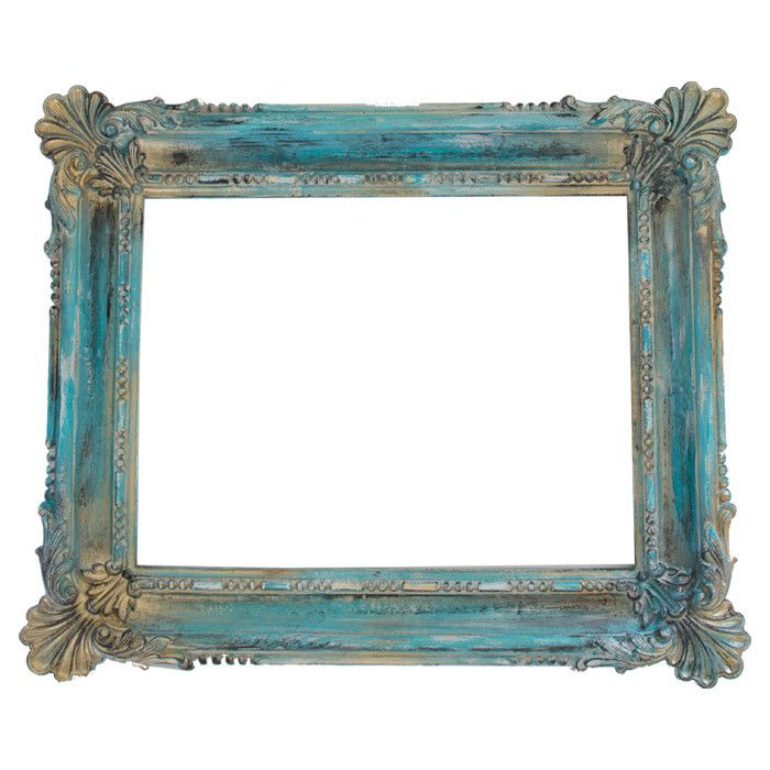 ....I love the turquoise touch here.: Turquoise, Open Back Picture, Pictures, Frameconstruction Material, Gold Picture Frames, Picture Frameconstruction, Craft Ideas, Sophia Picture