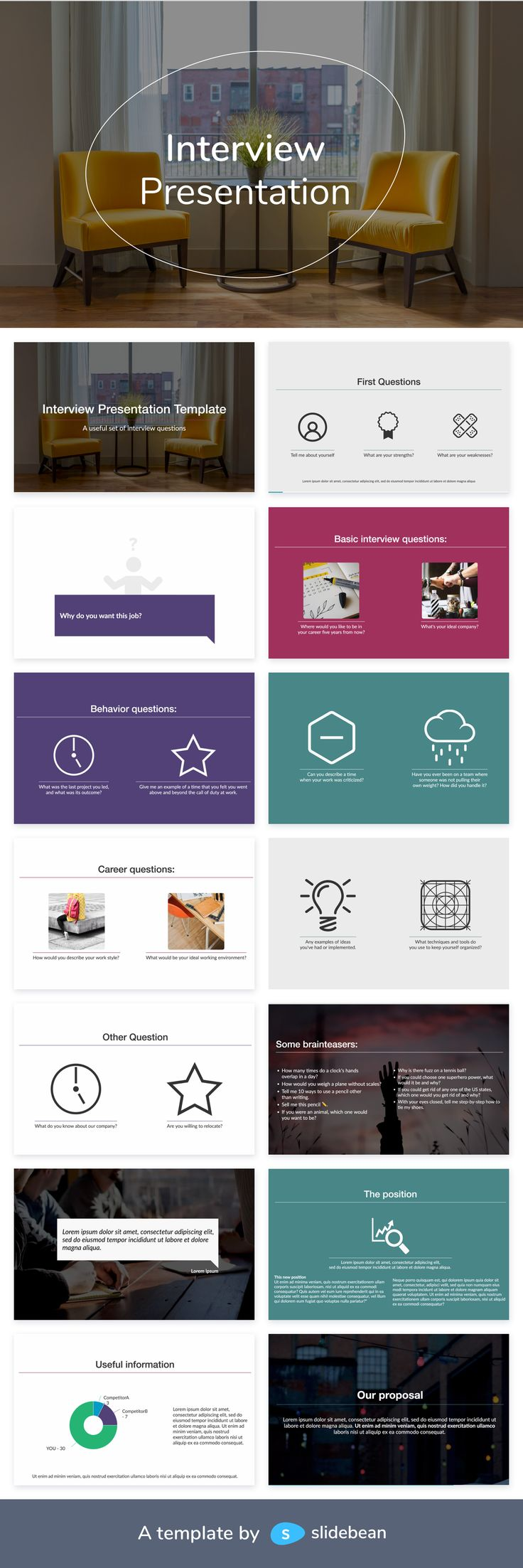 Interview Powerpoint Templates Powerpoint template free