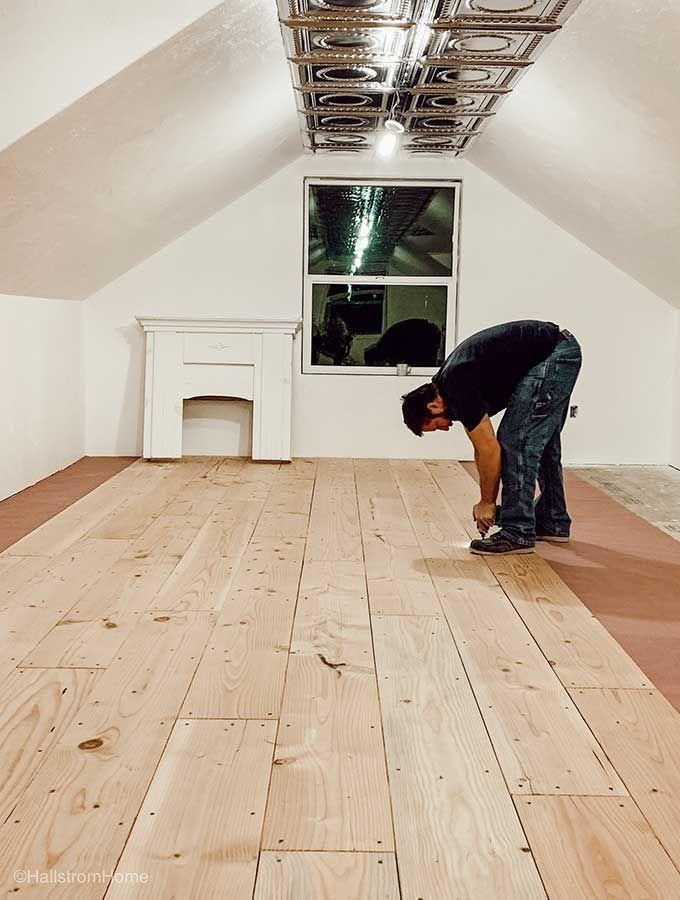 Make Your Own Plank Flooring Using 1 X 12 Lumber Wood Homemade Floor Floors Wide Diy Hardwood Rustic