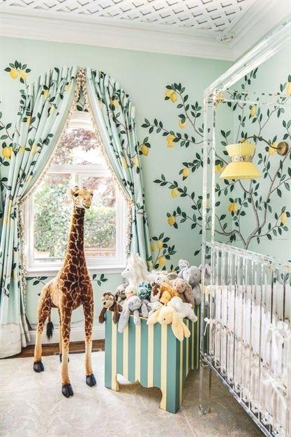Colores para pintar habitación bebé niña. Tendencias 2018: verde ...