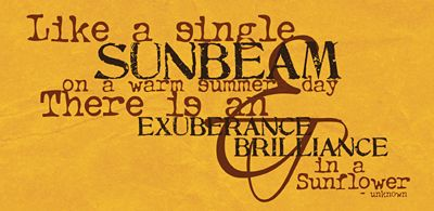 Mountainair Sunflower Day: Sunflower Poems