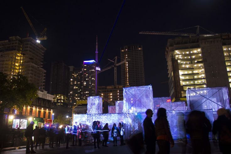 Photograph during Nuit Blanche 2014- Amaze