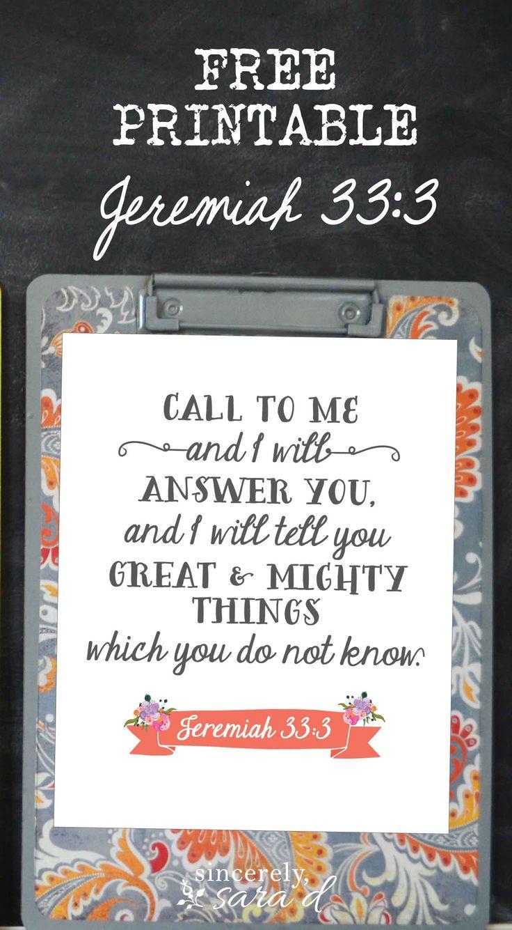 {Jeremiah 33:3} FREE printable!
