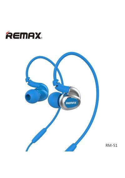 REMAX EARPHONES RM-S1 Sport Headset In-ear BLUE