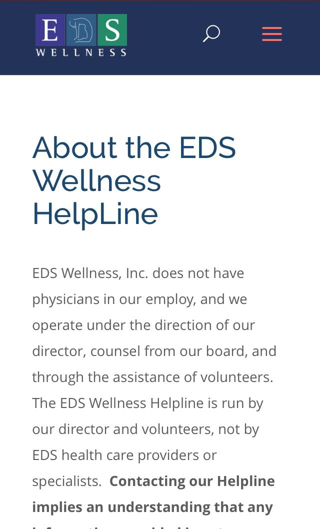 EDS WELLNESS' HELPLINE IS LIVE AND OPEN FOR APPOINTMENTS AND EMAILS!