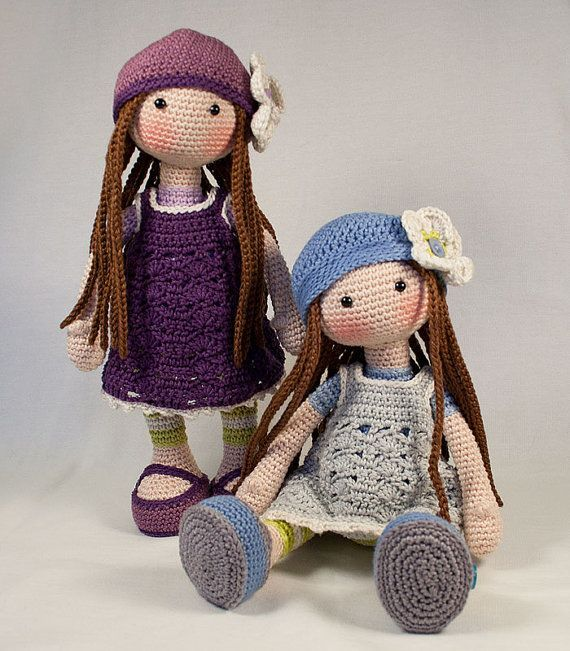 Crochet pattern for doll LILLY Deutsch English by CAROcreated
