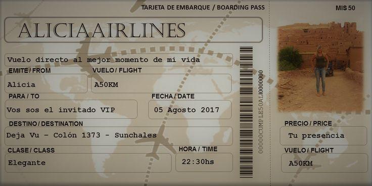 #invitacion #ticket #avion #viaje