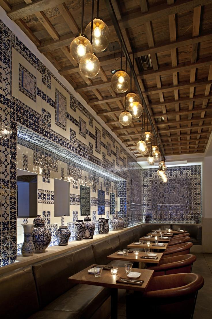 La Sandia, use of blue porcelain tiles.