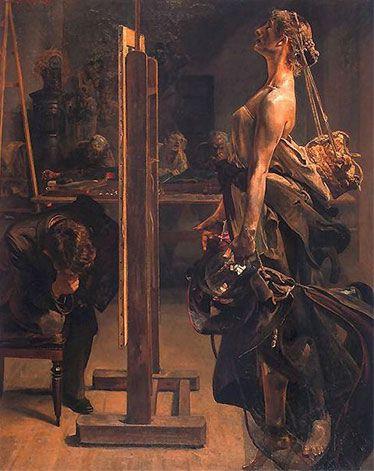 Inspiration of the Painter, 1897 - Jacek Malczewski