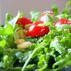 Wild rocket, cherry tomato and pine nut salad - Simple and Aussie and delicious