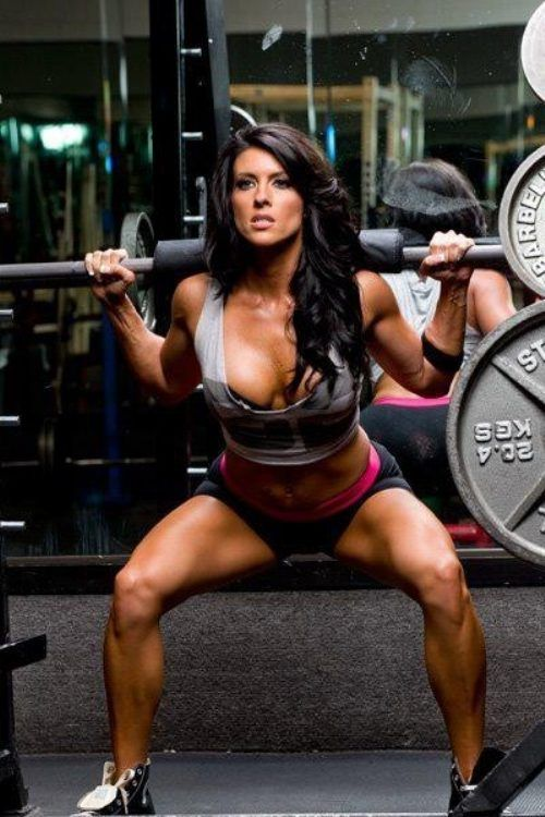 Squats  #fitness #fit #girl #hot #exercise #health #people #gym #body #perfection #beauty