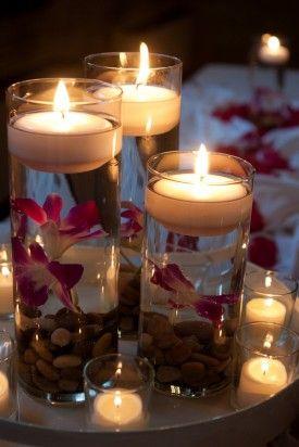 Candle Centerpieces 275x412 Washington DC Wedding Reception: Laura + Colin