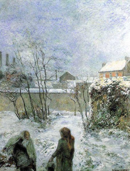 Paul Gauguin  - Effet de neige  - 1883                              …