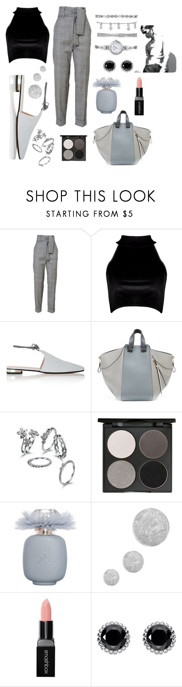 """Untitled #337"" by inesgenebra on Polyvore featuring Boohoo, Barneys New York, Loewe, Gorgeous Cosmetics, Topshop, Smashbox, Thomas Sabo and Anne Klein"