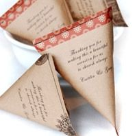 DIY Favor Bags made of paper and stitched up on a sewing machine!     Many downloadable patterns for wedding decor and favors.