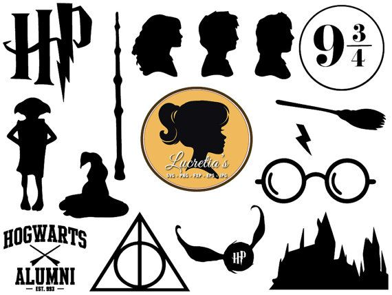 Harry Potter SVG, Harry Potter dxf, harry potter clipart, SVG files for Silhouette Cameo or Cricut, harry potter logo, vector, .svg, dxf eps